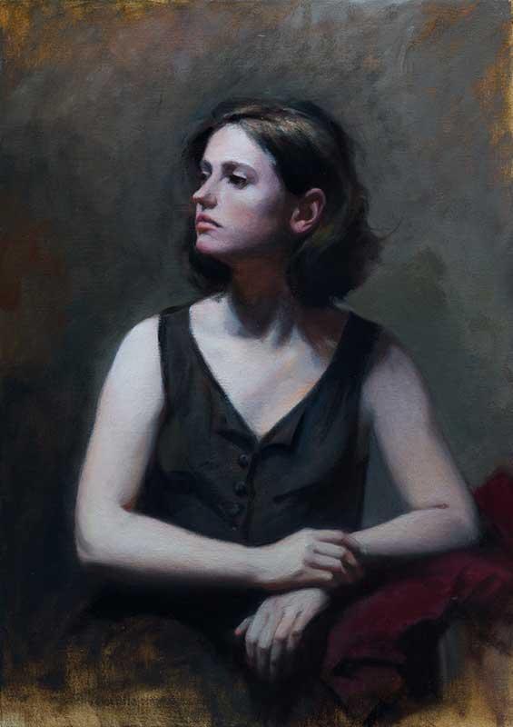Portrait of Chiara  oil on linen 70 by 50 cm. 2015