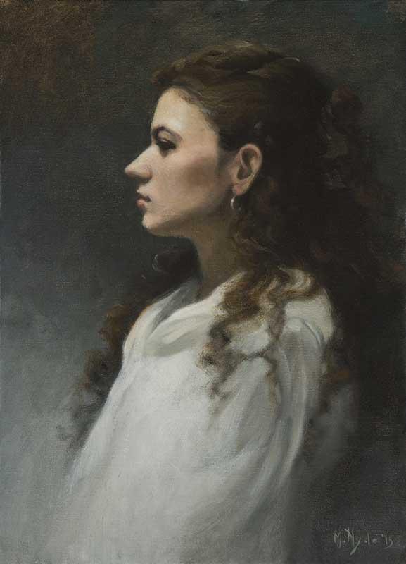 Portrait of Ilana  oil on linen 55 by 40 cm. 2015