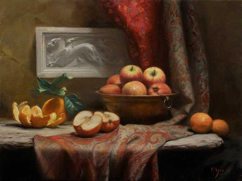 Apples and Oranges  oil on linen cm. 45 by 60 2013  SOLD