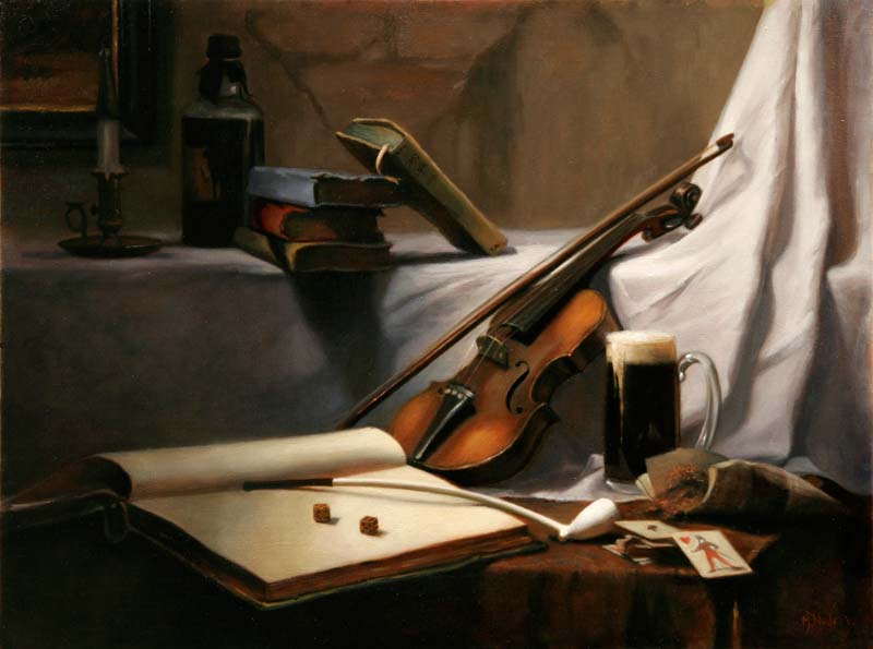 Play a Tune to Fate  oil on linen 60 by 80 cm. 2006  SOLD