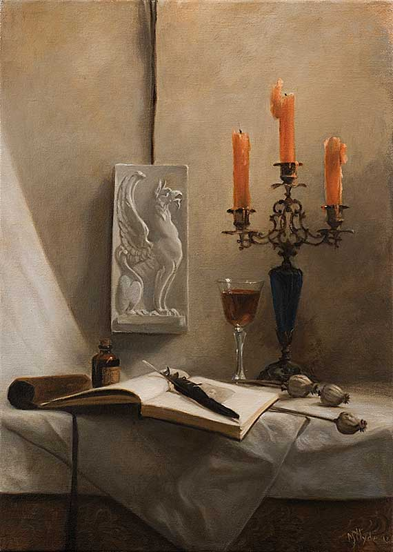 Scriptorium   oil on linen cm. 70 by 50 2013  SOLD