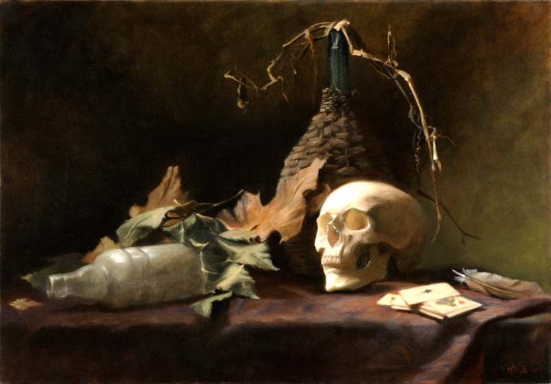 Vanitas with the ace of spades   45 by 65cm 2007    SOLD
