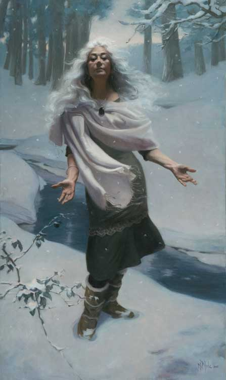 L'inverno (Winter)  oil on linen 125 by 85 cm. 2012