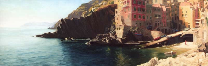 Rio Maggiore  Oil on linen cm. 40 x 155 2002  SOLD