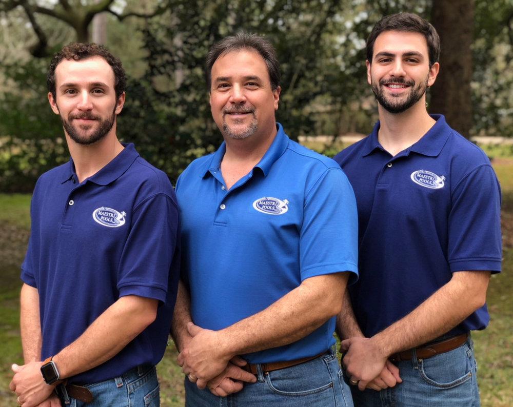 - Owner Gary Maestri, Sr. with sons Gary, Jr. & Gavin