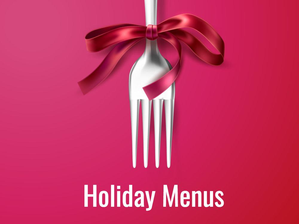 Holiday Menus -