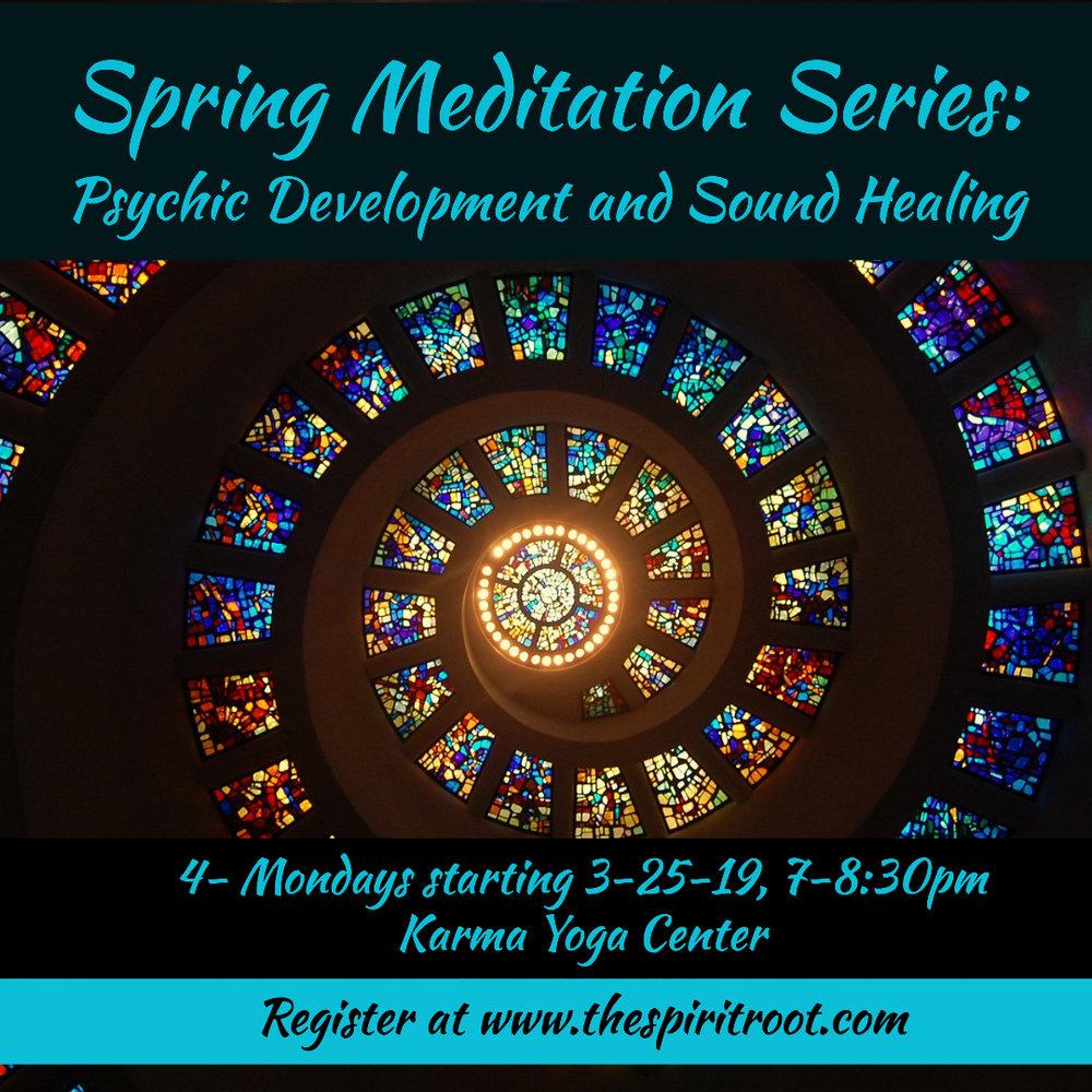 Spring Meditation Series - Spring 2019, Annual Series