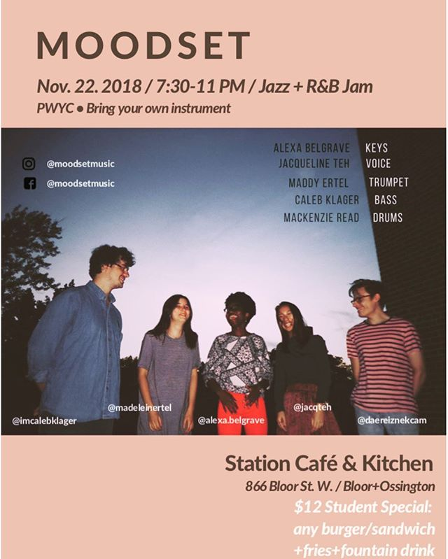 This Thursday! We're back at @stationonbloor, short set at 7:30pm and jam to follow after! Come vibe with us.