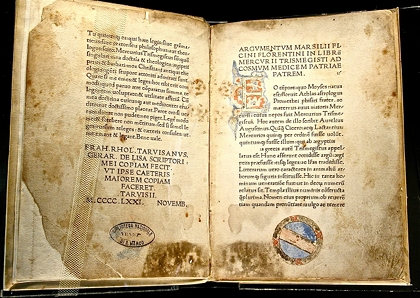 Corpus Hermeticum: by Marsilio Ficino, late fifteenth century