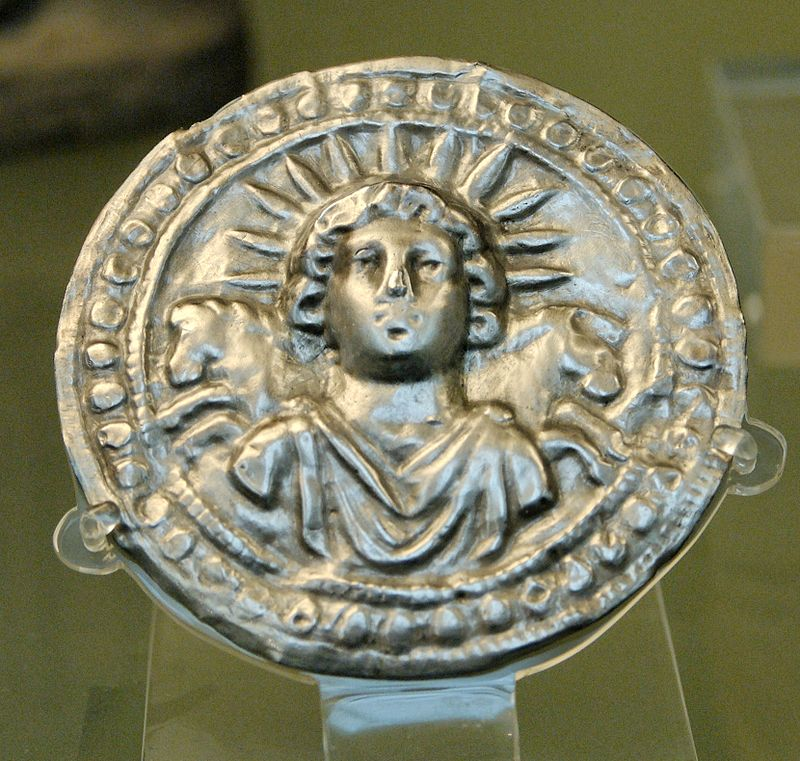 Roman disc in silver depicting Sol Invictus (from Pessinus in Phrygia, third century AD)