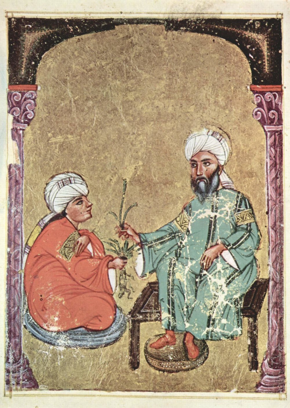 Folio from an Arabic manuscript of Dioscorides,  De Materia Medica , 1229