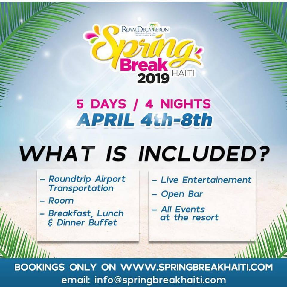 Spring Break Haiti 2019 - What Is Included