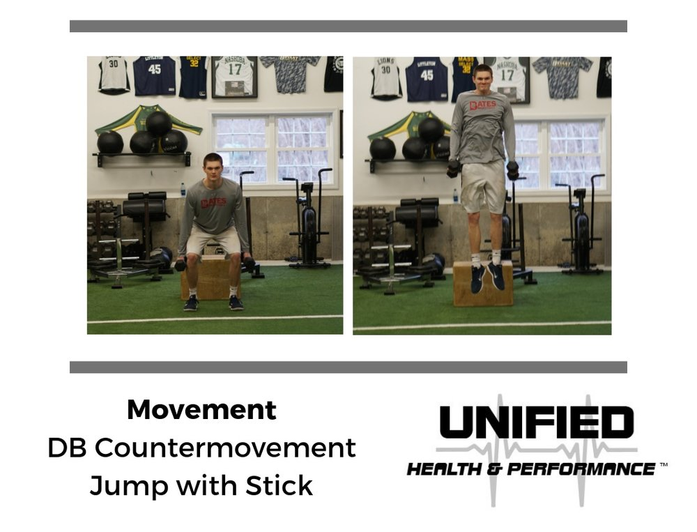 During the countermovement portion, an athlete is instructed to quickly dip and use a great deal of eccentric and concentric muscle action to abruptly reverse direction to jump upwards. While the Box Jump reduces the landing impact, during a Countermovement Jump the athlete is required to absorb a greater deal of force. This would effect how you determine which variation to use as well as the amount of volume you prescribe.