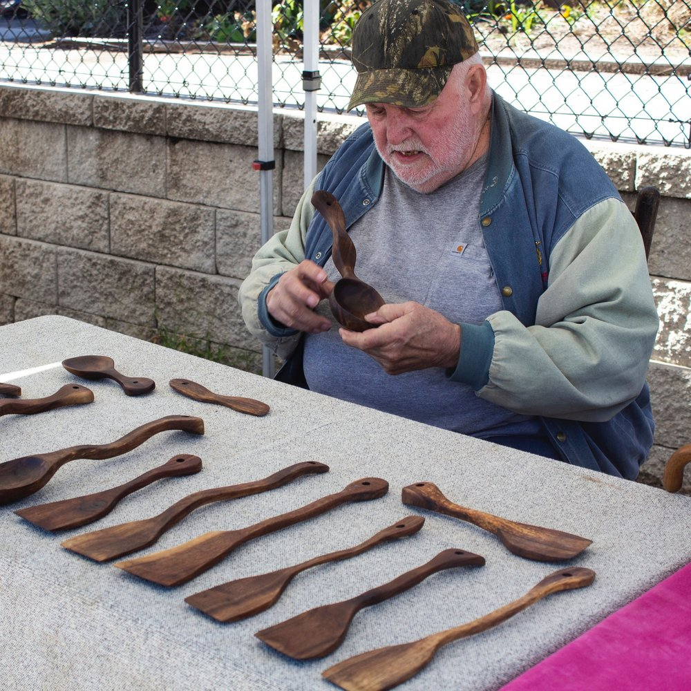 Lew's   Hand-Carved Kitchen Utensils, Cutting Boards, and Bowls from responsibly harvested Black Walnut