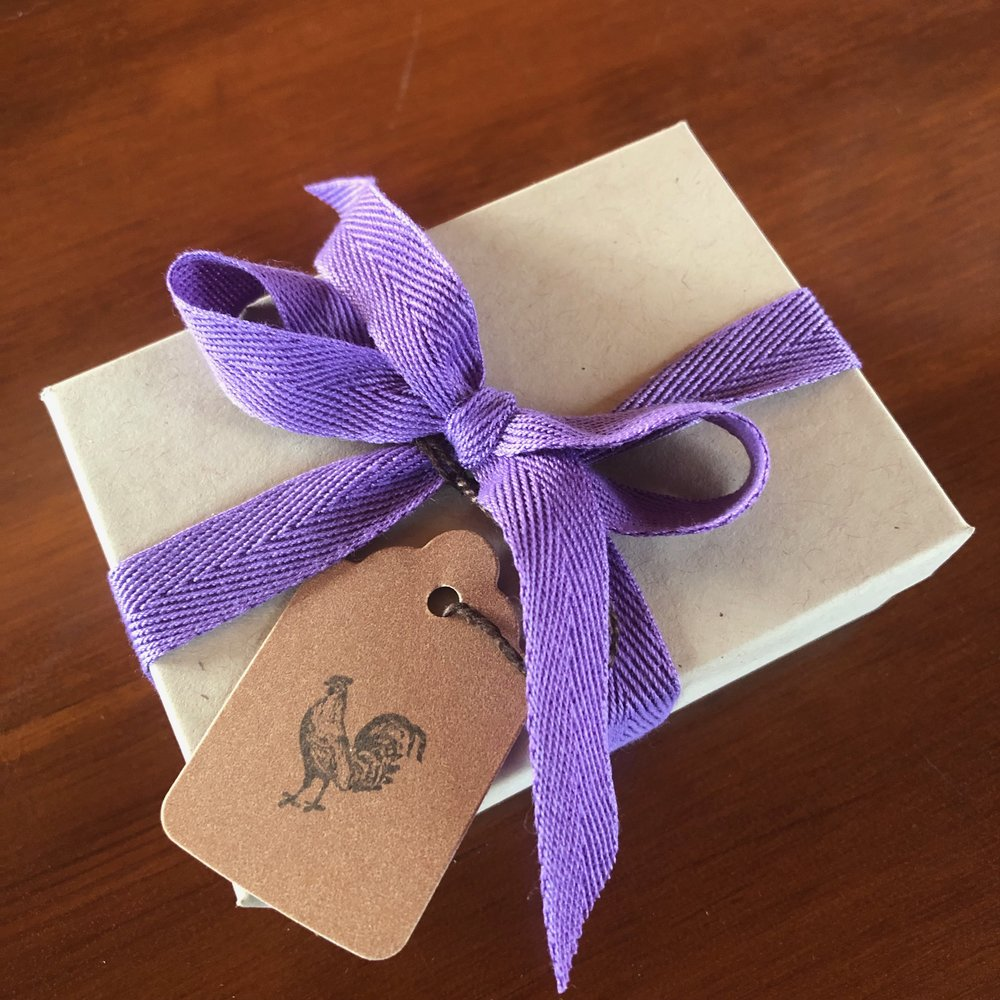 Pins arrive gift boxed with a cute blank gift tag. If you prefer your Rudy pin packaged inside a simple cello plastic sleeve, please request one when you order.