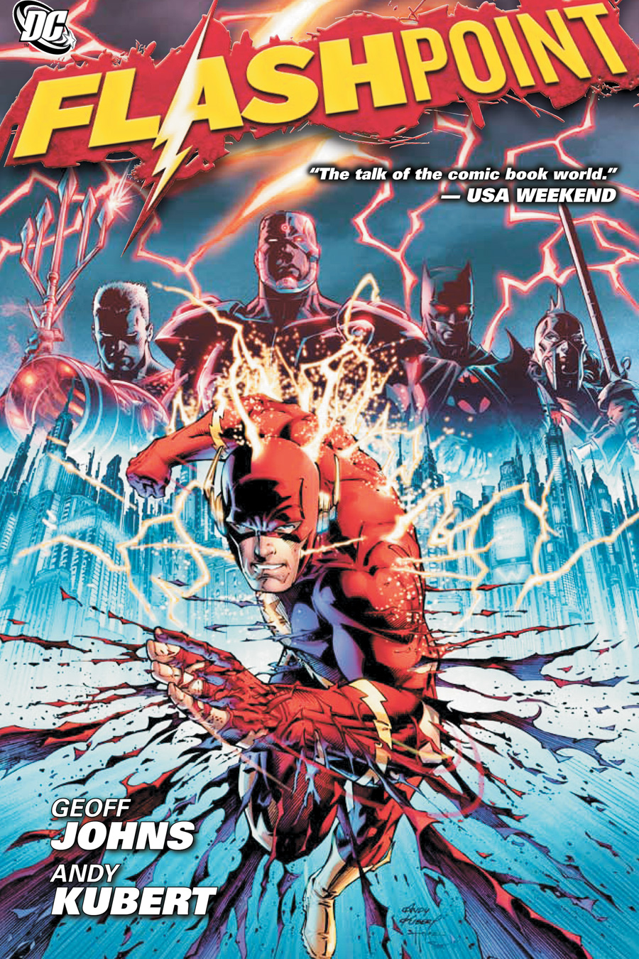 The cover of the FlashPoint Comic series which started the New 52