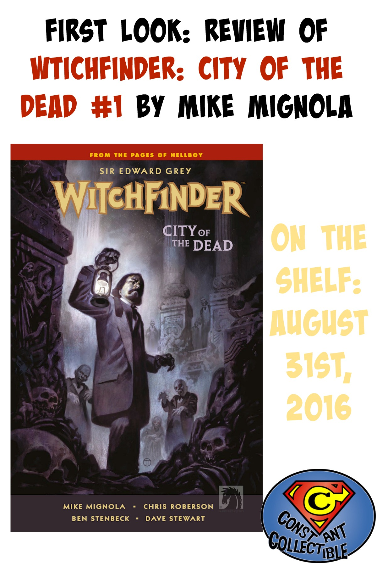 First Look: Review of Witchfinder: City of the Dead #1 by Mike Mignola