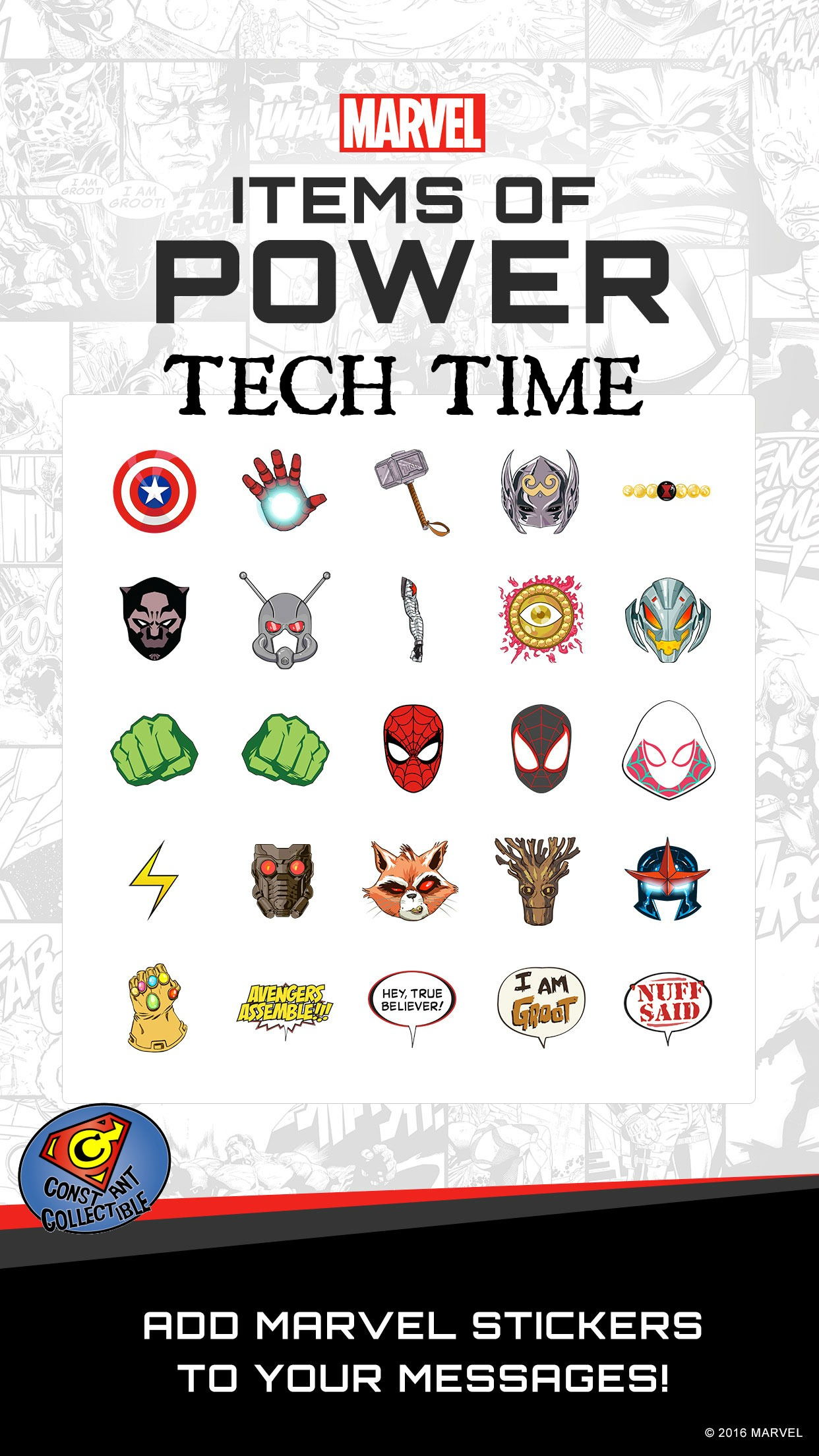 Tech Time:INTRODUCING MARVEL STICKERS FOR APPLE'S UPDATED
