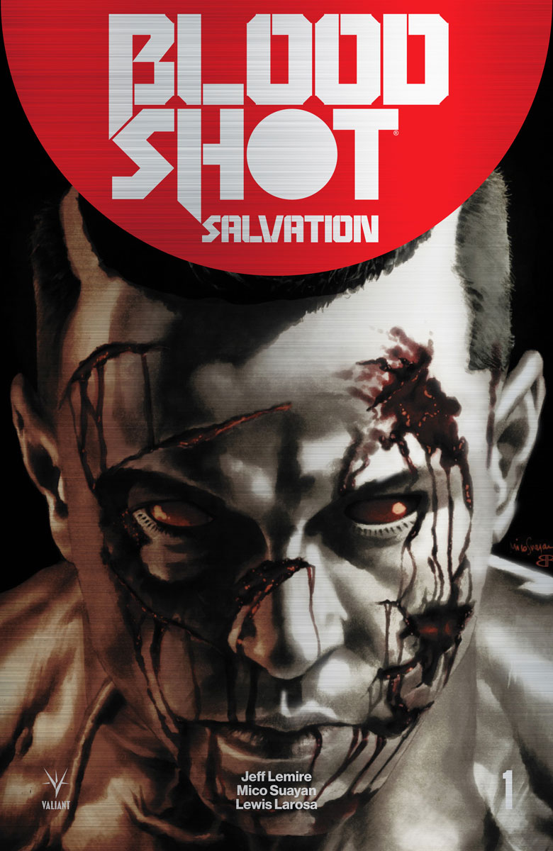 BLOODSHOT SALVATION #1 – Brushed Metal Variant by Mico Suayan