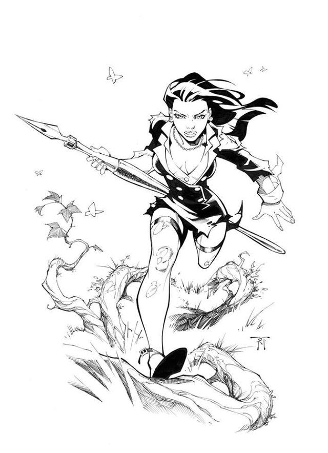 "Inkwell 10th Anniversary ""Jungle Girl"" by Randy Green"