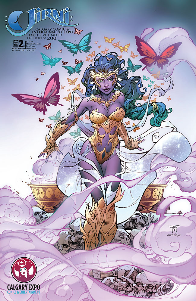 Jirni Volume 3 #2 convention exclusive cover by Randy Green and Erick Arciniega (2018)