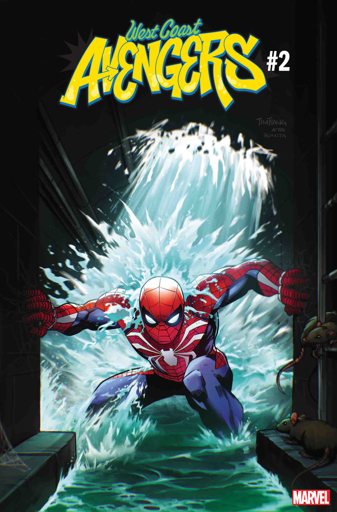 WEST COAST AVENGERS #2 MARVEL'S SPIDER-MAN VIDEO GAME VARIANT by TIM TSANG (homage to Amazing Spider-Man #151 by John Romita)