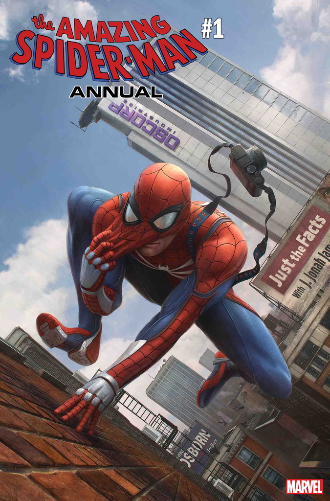 AMAZING SPIDER-MAN ANNUAL #1 MARVEL'S SPIDER-MAN VIDEO GAME VARIANT by DENNIS CHAN (homage to Amazing Spider-Man #546 by Steve McNiven)