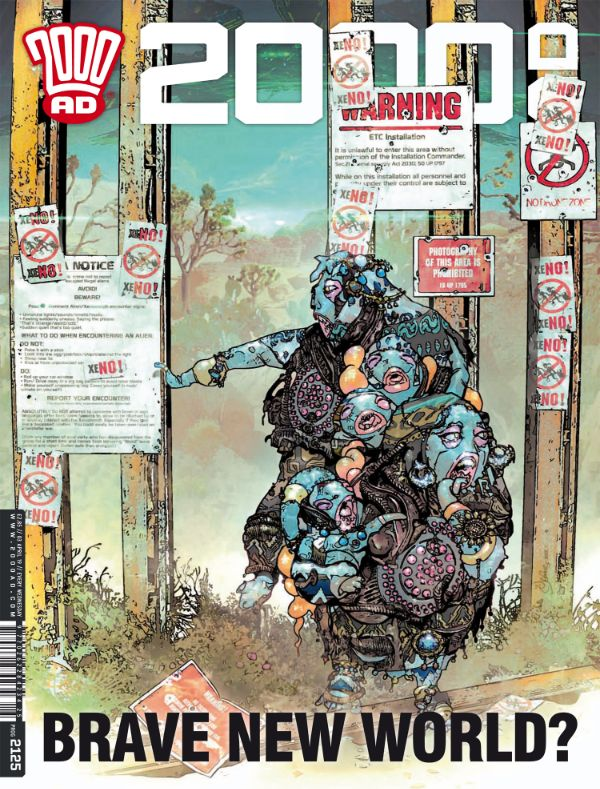 2000ad Takes A Swipe At Trump S Wall With New Cover Of 2000 Ad