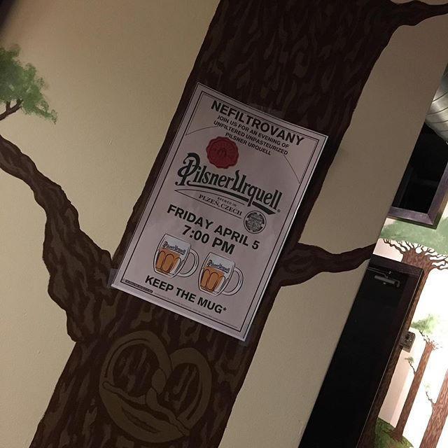 Friday April 5th. Unfiltered @pilsnerurquell will be on draft. Get here early. It will go real quick! #tgp