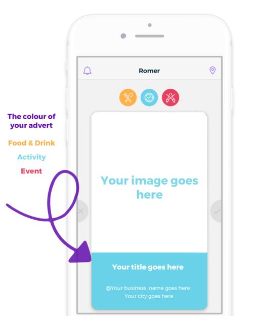 Romer in-app advert example