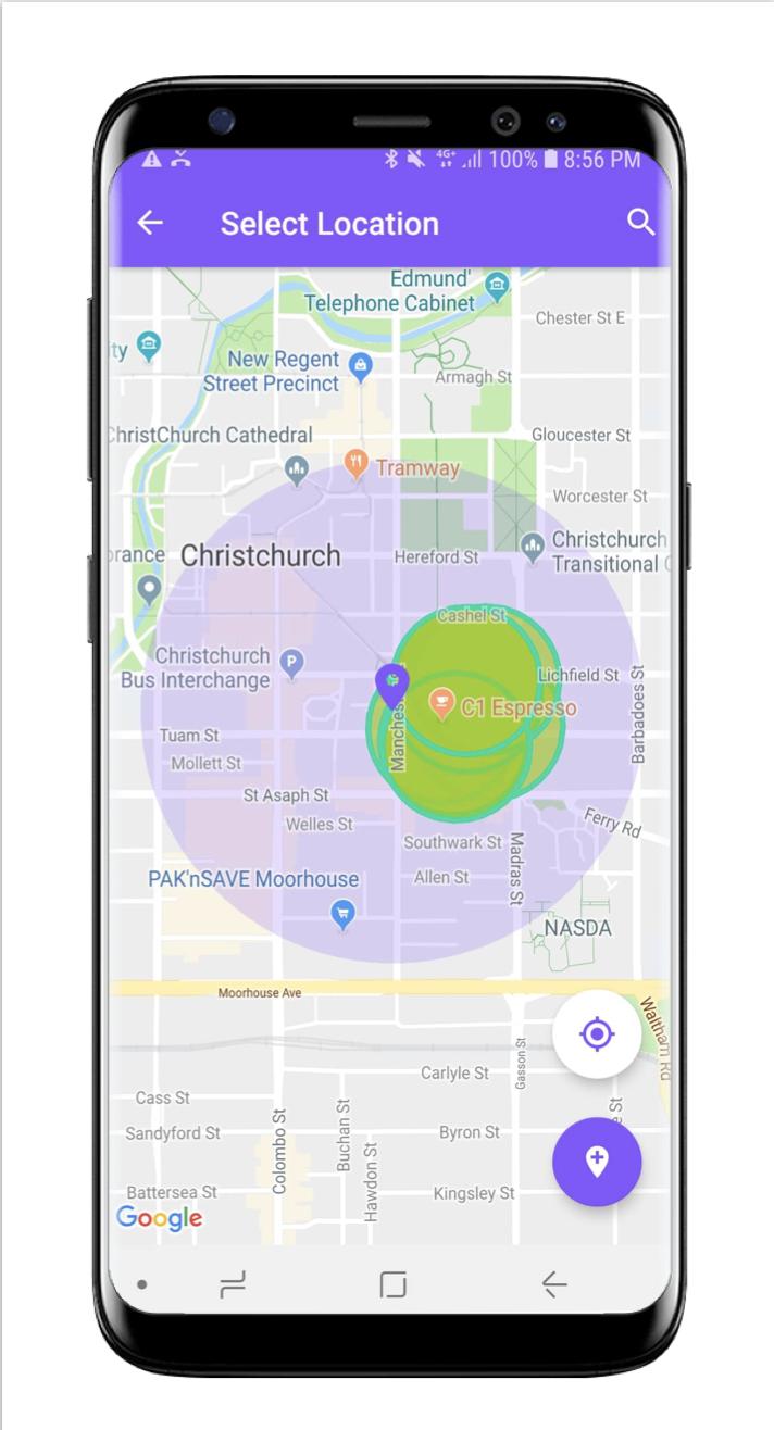 Geo-fencing Romer app
