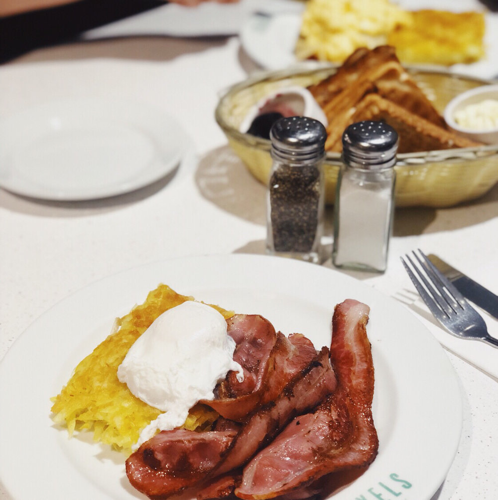 5. American diner style breakfast with bottomless coffee -