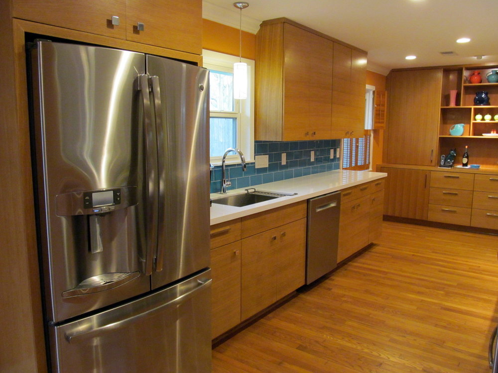 Mid Mod Kitchen - love the new look!.JPG