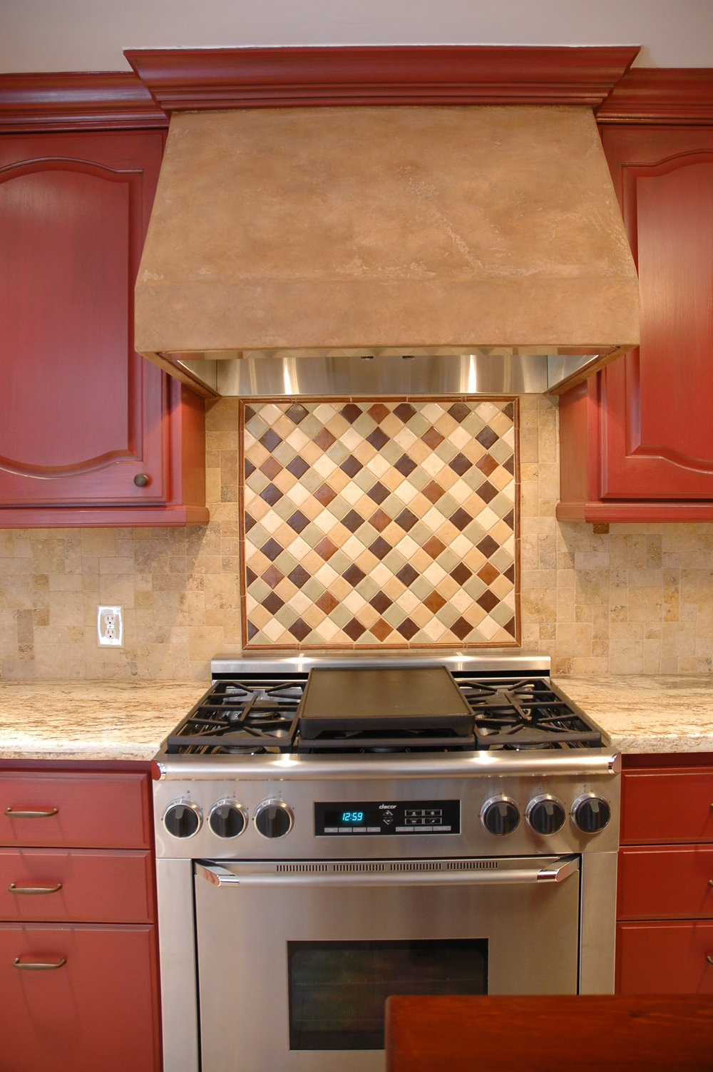 Fabulous Italian custom tile for the focal point.JPG