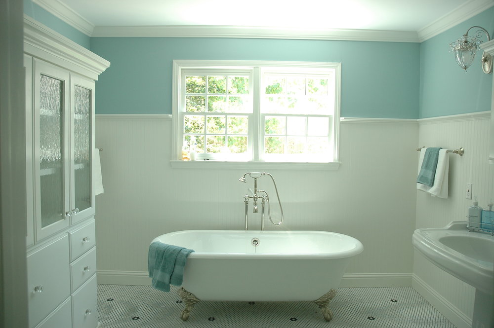 New bathroom speaks to the age of the home.JPG