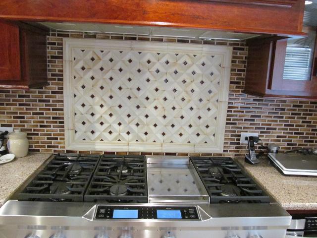 Spectacular backsplash tile from the showroom I call the tile gods.JPG