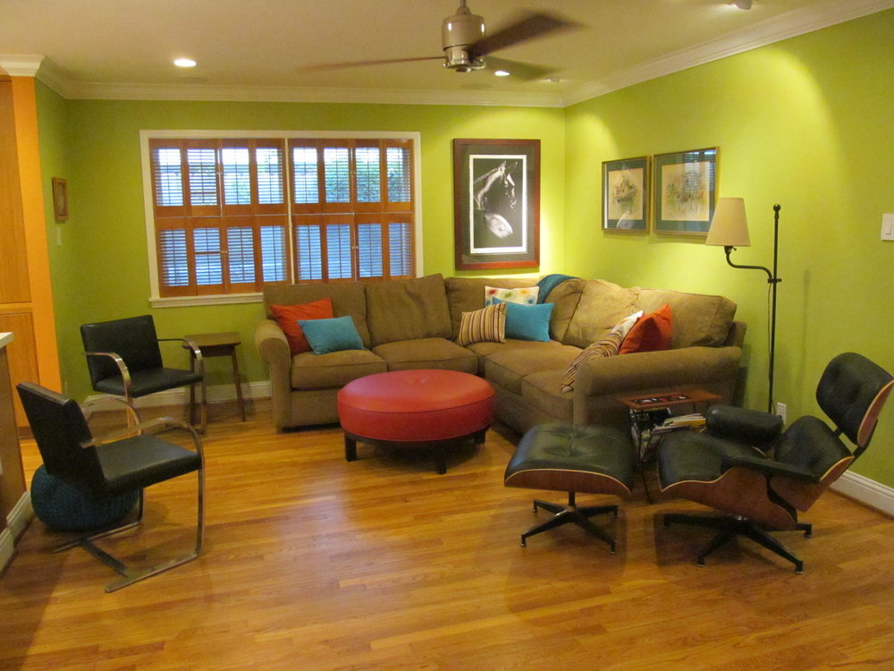 MID MOD FAMILY ROOM AND BEDROOM -