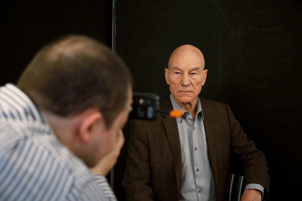 Rory Lewis on assignment with Actor Sir Patrick Stewart.