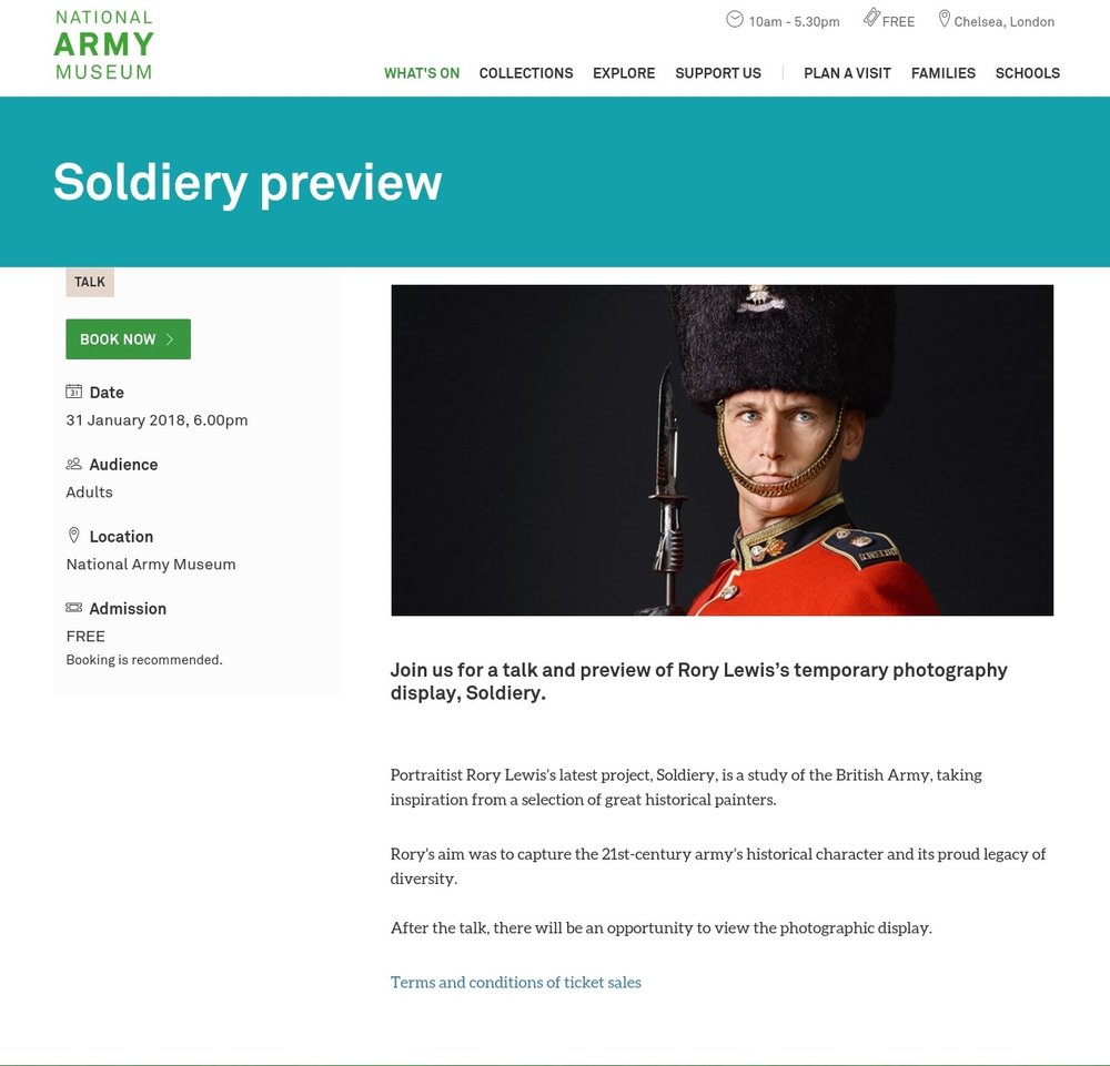 Soldiery Exhibition The National Army Musuem 2018