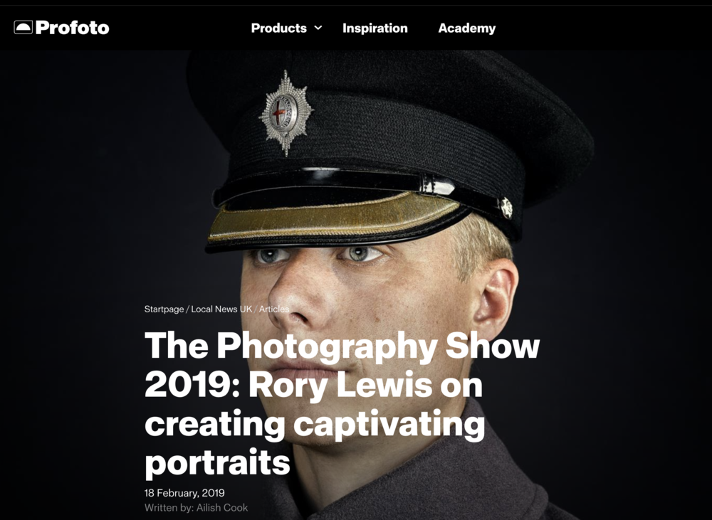 Profoto Interviews London Portrait Photographer Rory Lewis