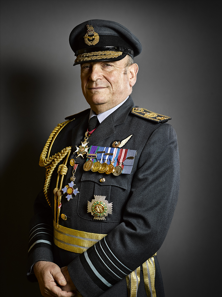 Air Chief Marshal Sir Stuart Peach Portrait Sitting Rory Lewis London Military Portrait Photographer