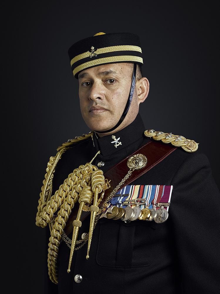 Captain Buddhi Bhandari MVO Portrait Sitting London Military Portrait Photographer Rory Lewis