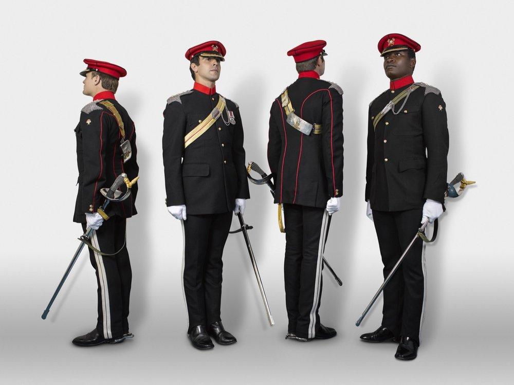 Captains, Humphreys, Prichard, White & Issac The Royal Lancers (Rory Lewis London Portrait Photographer)