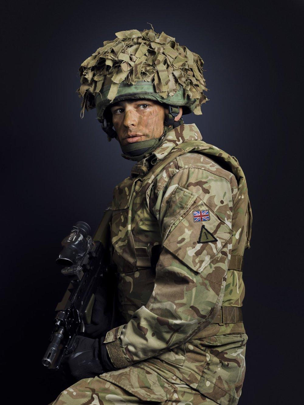 Tpr Millward The Royal Tank Regiment (Rory Lewis London Portrait Photographer)