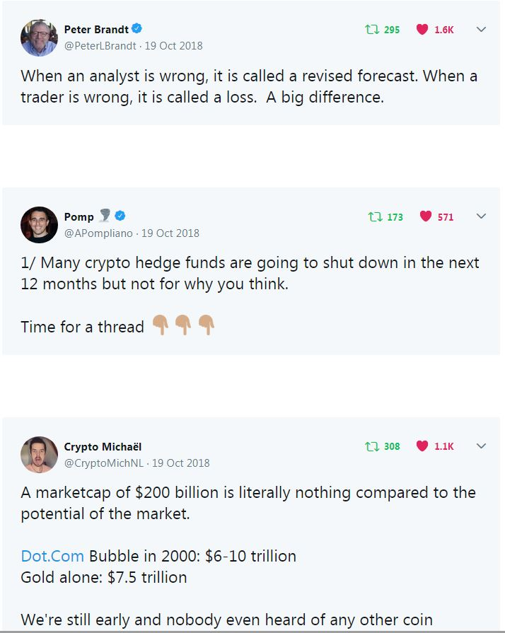 This whole section will educate and make you bullish on crypto. Also has trading/investing tips.