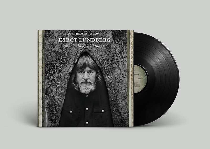 Ebbot Lundberg & The indigo children - For the ages to come / Cover design by Liebling P and Erling Cednäs.