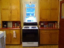 Prior to the remodel, the space contained two freestanding cabinets and a wall-mount sink.