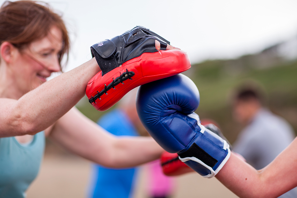 Beach Boxing - With gloves and pads provided, Polzeath beach is our boxing ring! Work individually, in pairs and all together for a fun filled workout. This class is designed so everyone can get stuck in, whether you're a beginner or quite the regular. Come, get your gloves on and let's box your way into shape.