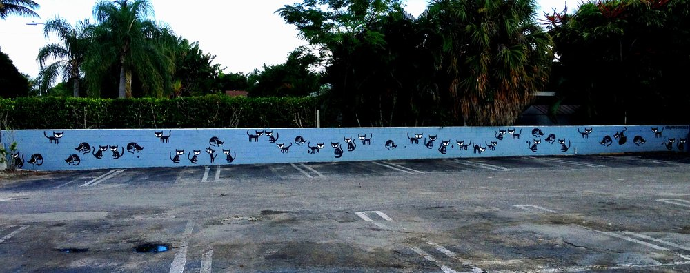 Echoes   mural commissioned by Howley's Restaurant, West Palm Beach. 2015