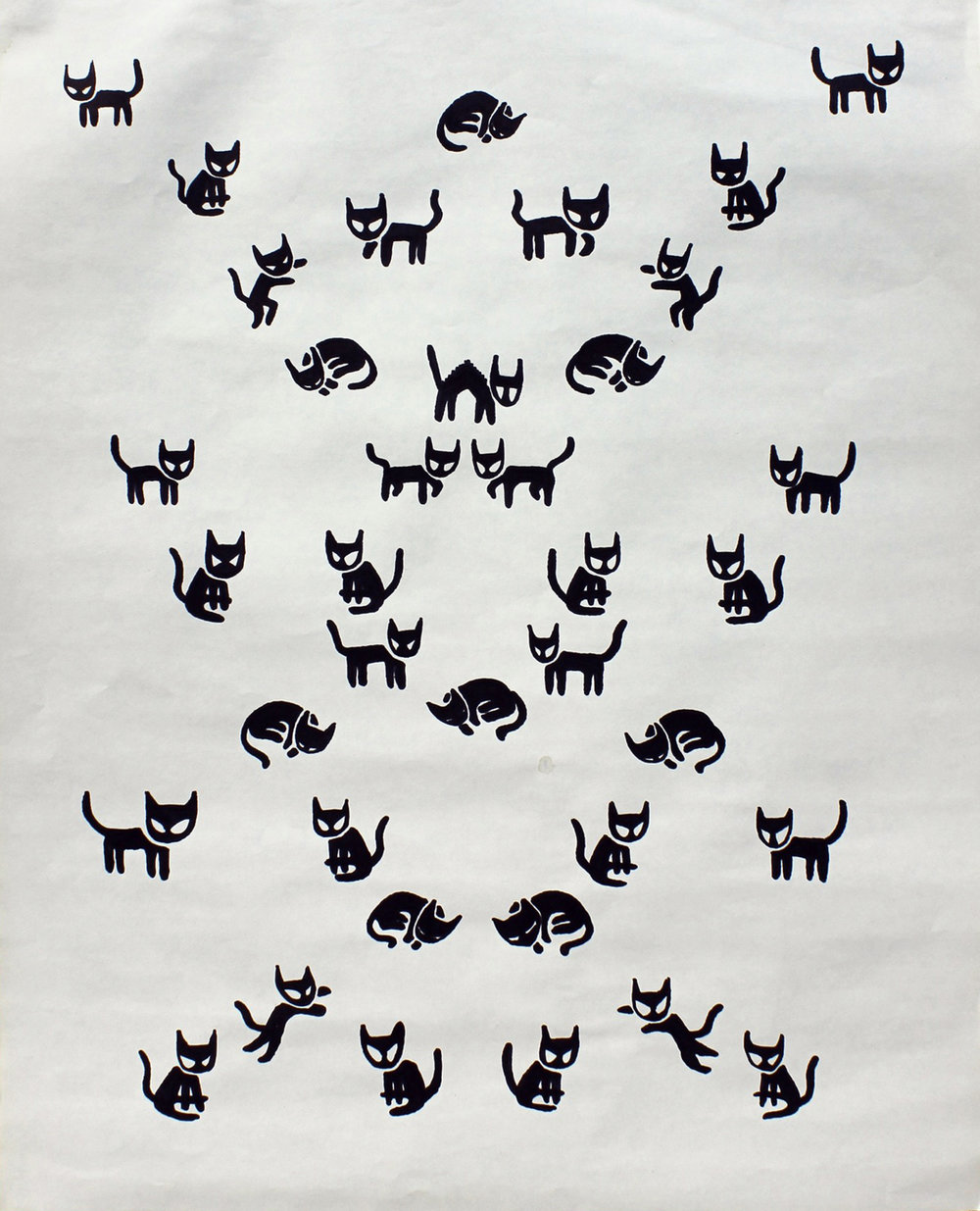 Cats   ink on paper. 2013